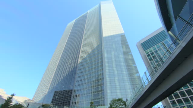 looking up view of skyscraper - office building exterior stock videos & royalty-free footage