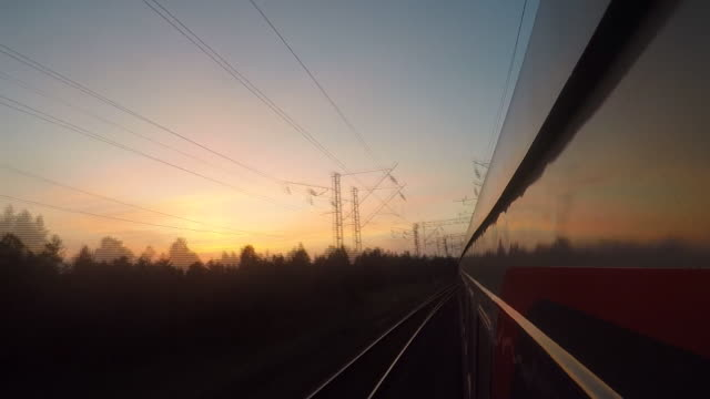 Looking varied scenery through Window of Trans-Siberian Railway