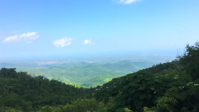 lookout in the 'topes de collantes' road, cuba - caribbean stock videos and b-roll footage