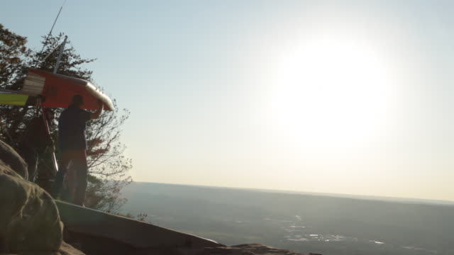 lookout mountain hang gliding site is the largest training school and fly resort in north america located in east tennessee near chattanooga city no - hang gliding stock videos and b-roll footage