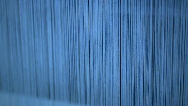 loom under working in the denim workshop - woven stock videos & royalty-free footage