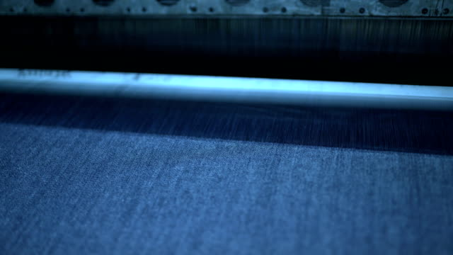 loom under working in the denim workshop - loom stock videos & royalty-free footage