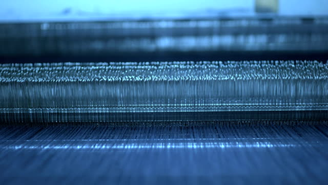 loom under working in the denim workshop - string stock videos & royalty-free footage
