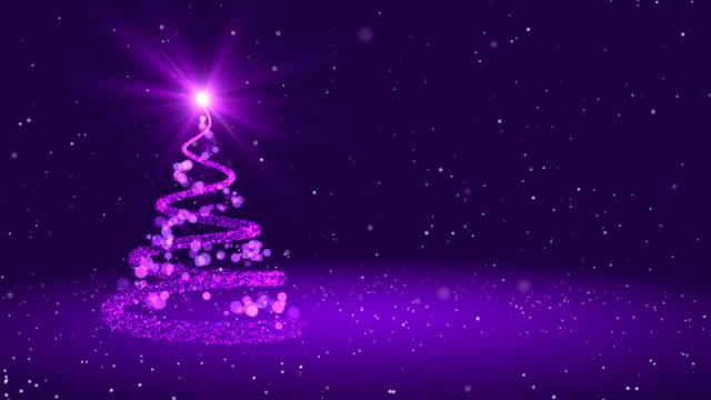 loop 4k christmas greeting card - purple stock videos & royalty-free footage