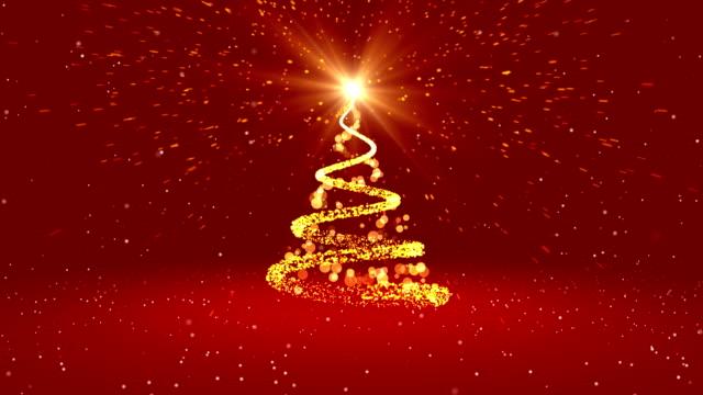 loop 4k christmas greeting card - christmas tree stock videos & royalty-free footage