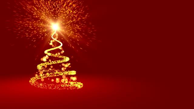 ループ 4 k クリスマス グリーティング カード - クリスマスカード点の映像素材/bロール