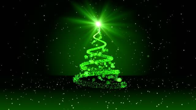 vídeos de stock e filmes b-roll de loop 4k christmas greeting card - abeto