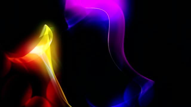 vidéos et rushes de boucle abstrait fumeur - surexposition effet visuel