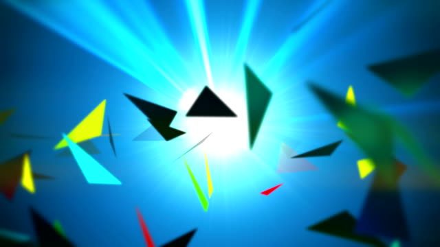 Loop: abstract triangle background