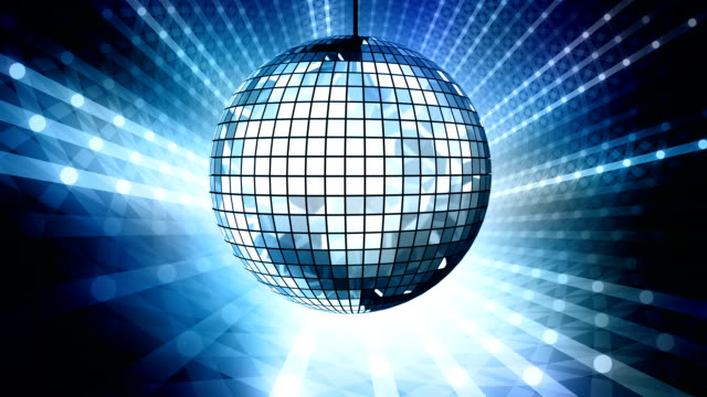 loop: blue disco ball - disco dancing stock videos & royalty-free footage