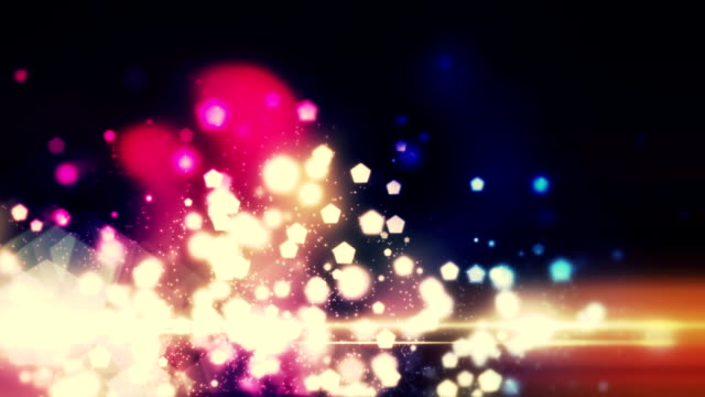 Loop bokeh particles background