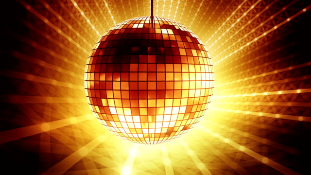 loop golden disco ball - nightclub stock videos & royalty-free footage