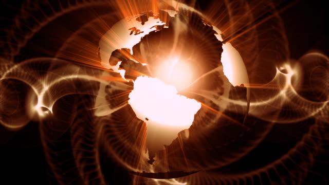 loop hd earth cool animation  30 fps - longitude stock videos & royalty-free footage