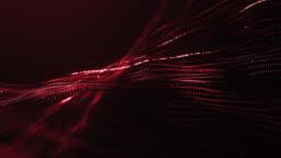 Loop of Red Glowing Strings