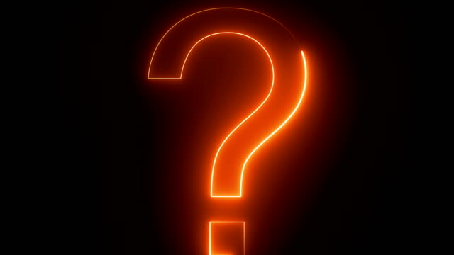 loop orange and blue colored question mark background - question mark stock videos & royalty-free footage