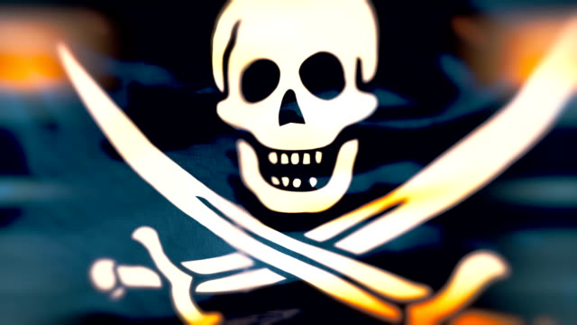 loop piratenflagge - seeräuber stock-videos und b-roll-filmmaterial