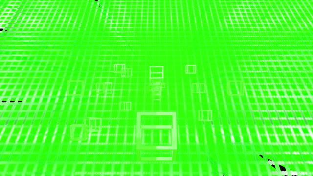 loop ready 4k retro style background with a green theme. turning cubes move from the distant centre to the edges of the clip. moving streaks and flares are emitted from the centre in the background. served with alpha channel. - johnfscott stock videos & royalty-free footage