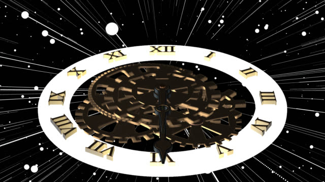 loop ready clock with fast moving forward hands saved with alpha channel - clock hand stock videos & royalty-free footage