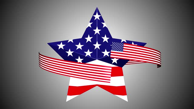 loop turning star with usa flag - top hat stock videos & royalty-free footage