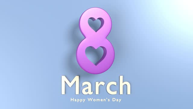 loopable 8 march happy women's day text  to celebrate 8 march international women's day in 4k resolution - number 8 stock videos & royalty-free footage