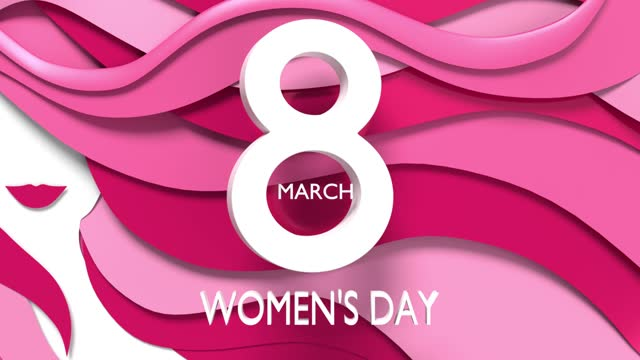 loopable 8 march women's day text and women silhouette to celebrate 8 march international women's day in 4k resolution - number 8 stock videos & royalty-free footage