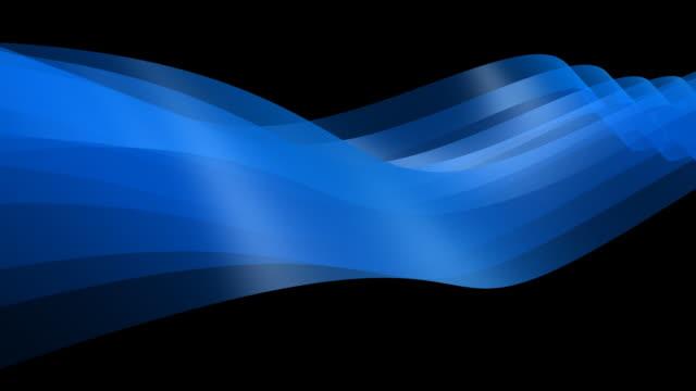 endlos wiederholbar, abstrakt blau dynamische element 3d - auflösen stock-videos und b-roll-filmmaterial