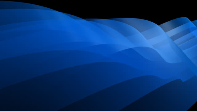 Loopable, Abstract Dynamic Blue Element 3D