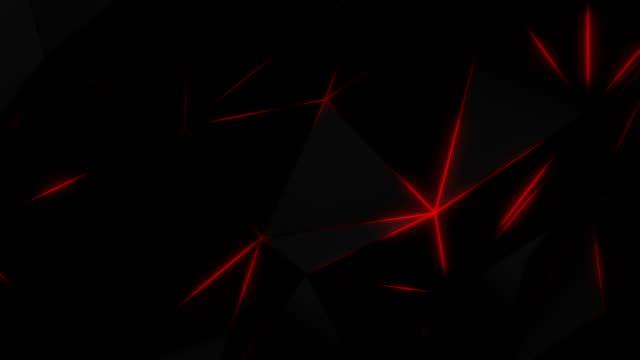 vídeos de stock, filmes e b-roll de fundo poligonal geométrico abstrato em vermelho - triângulo instrumento de percussão