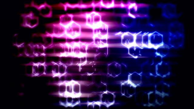 vídeos de stock, filmes e b-roll de fundo abstrato loopable do hexágono da tecnologia do falha - hexágono