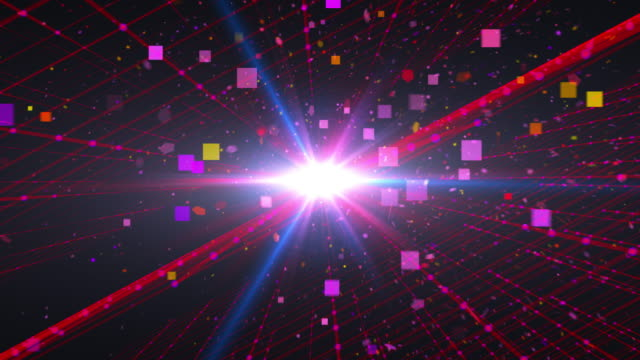 Loopable abstract particle background