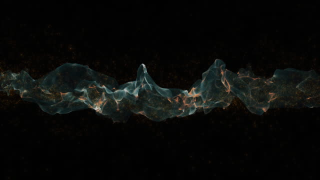 loopable abstract smoke on black background - motion graphics stock videos & royalty-free footage