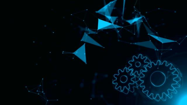 loop-stånd abstrakt teknik bakgrund kugghjul - kugghjul bildbanksvideor och videomaterial från bakom kulisserna