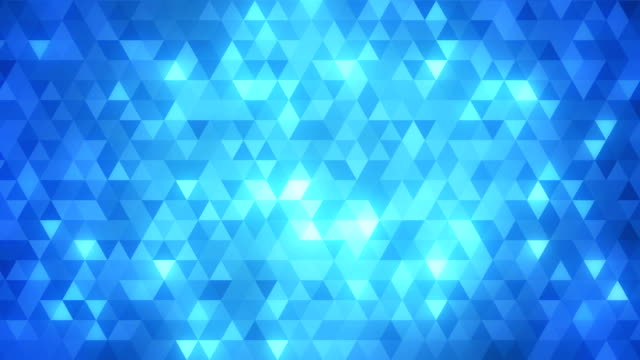 stockvideo's en b-roll-footage met loopable abstract triangles background blue - geometrische vorm