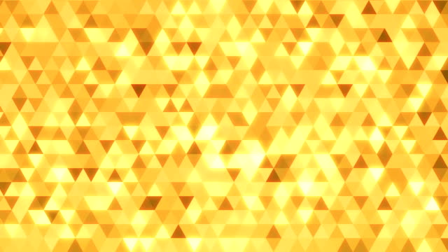 Loopable abstract triangles background gold