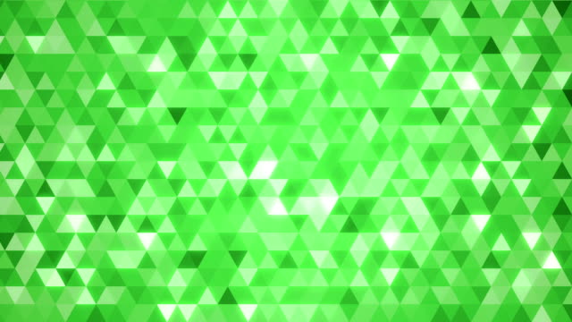 Loopable abstract triangles background green