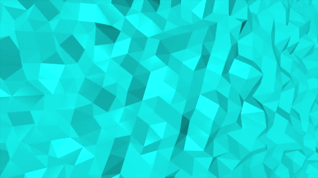 Loopable abstract triangles background Turquise, 4K(UHD)
