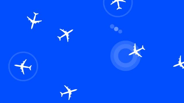 ループ、航空機レーダー - 電波探知機点の映像素材/bロール
