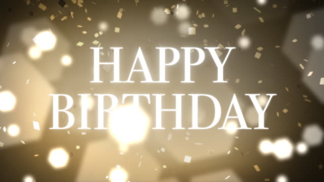 loopable and elegant happy birthday animation - birthday stock videos & royalty-free footage