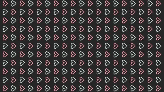 stockvideo's en b-roll-footage met achtergrond 4k-loopbare geanimeerde hartpatroon - cadeau