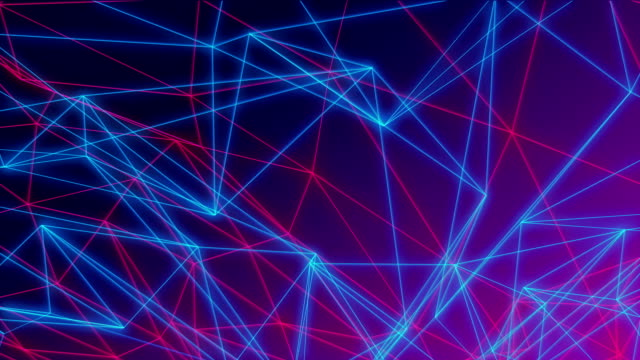 loopable animated neon line streak abstract background - aura stock videos & royalty-free footage