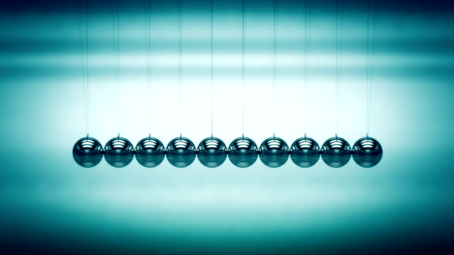 loopable balancing balls newton's cradle - marble stock videos & royalty-free footage