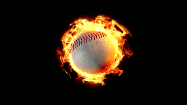 loopable baseball on fire background - frivarv bildbanksvideor och videomaterial från bakom kulisserna