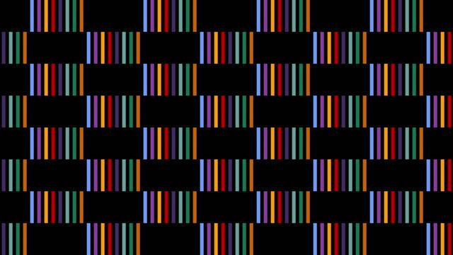 schleifbare blinkende rechtecke rastermuster - parallele geometrie stock-videos und b-roll-filmmaterial