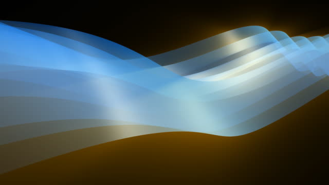 Loopable, Blue Abstract Dynamic Element 3D