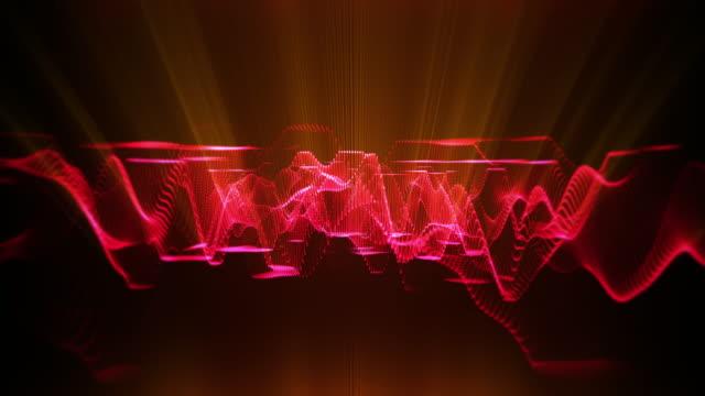 vidéos et rushes de fond abstrait abstrait loopable d'onde sonore 128bpm - mixage du son