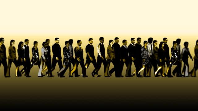 ループ、ビジネスの群衆 - 大人数点の映像素材/bロール