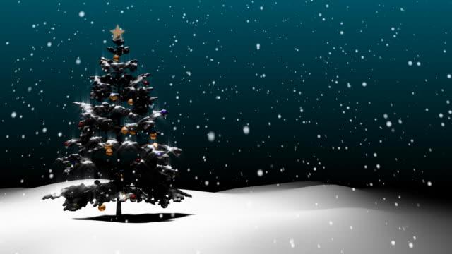 vídeos y material grabado en eventos de stock de fondo de navidad en bucle v3 - foco difuso