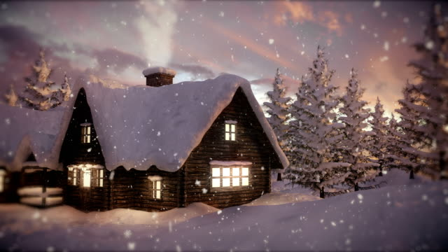 loopable christmas scene | winter landscape - christmas stock videos & royalty-free footage