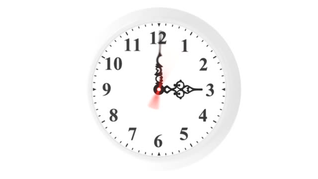 loopable clock animation - 24 hrs stock videos and b-roll footage