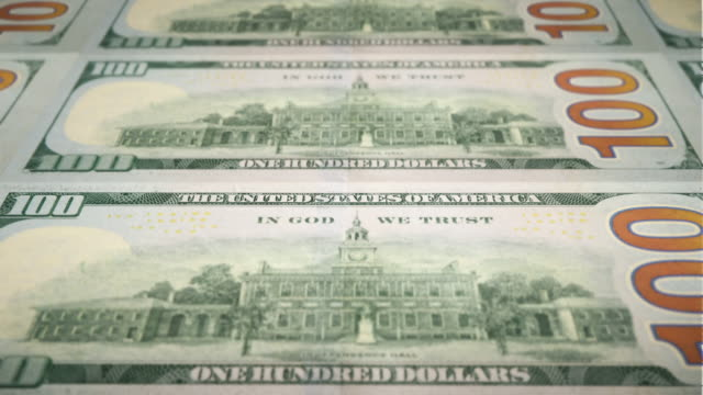 loopable close-up of printing $100 dollar bills, bureau of engraving and printing - independence hall stock videos & royalty-free footage